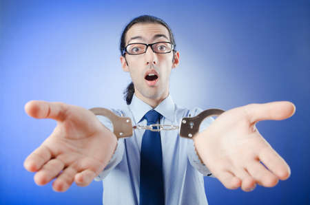 control fraud: Businessman handcuffed for his crimes
