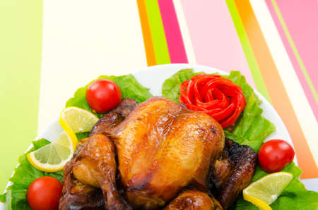Roasted turkey on the festive table Stock Photo - 11181547