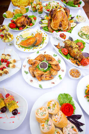 Table served with tasty meals Stock Photo - 11181183