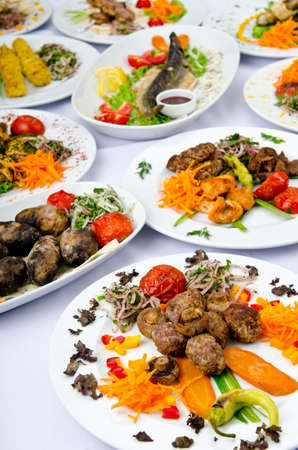 Meals served on a party table Stock Photo - 11181288