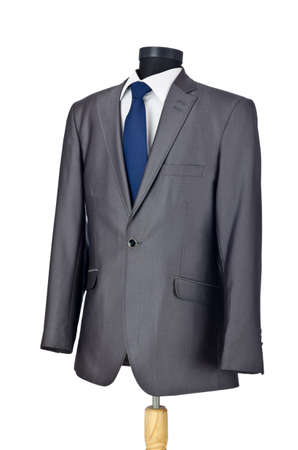 cotton dress: Male suit isolated on the white