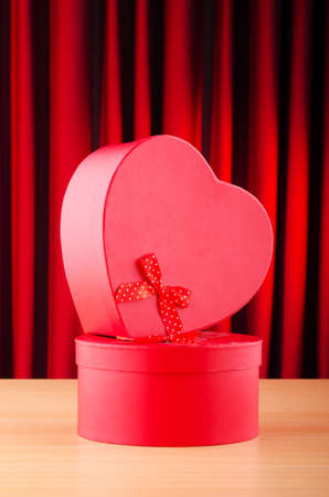 Heart shaped gift box against background Stock Photo - 11243261