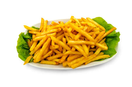 french fries plate: French fries in the plate