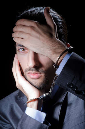 Businessman jailed for his crimes Stock Photo - 11250845