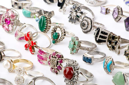 Selection of many precious rings Stock Photo - 11343208