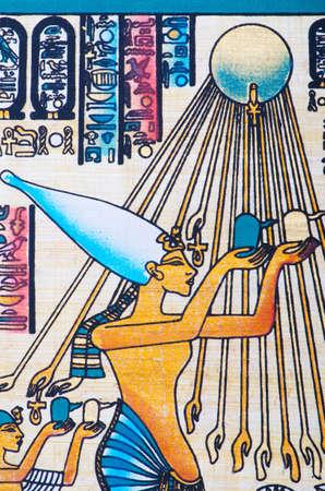 Fragment of egyptian papyrus Stock Photo - 11336837