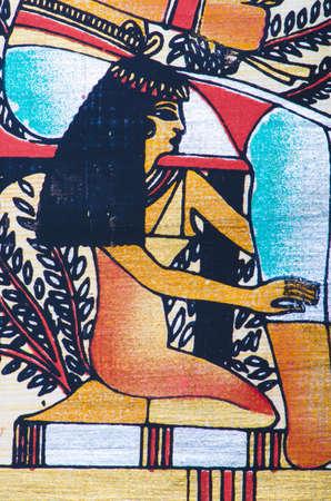 Fragment of egyptian papyrus Stock Photo - 11336838