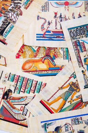 scribes: Frammento di papiro egiziano Editoriali
