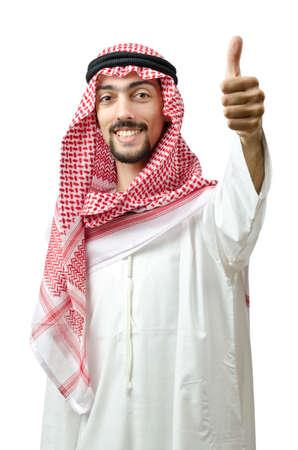 middle eastern clothing: Concetto di diversit� con il giovane arabo
