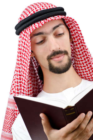 Education concept with young arab Stock Photo - 11364915
