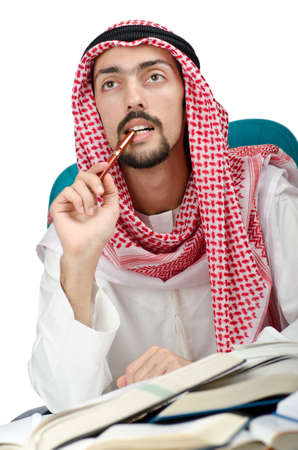 Education concept with young arab Stock Photo - 11364138