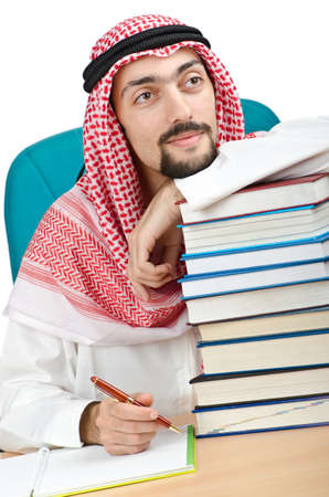 Education concept with young arab Stock Photo - 11364135