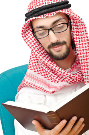 Education concept with young arab Stock Photo - 11364878