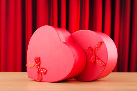 Heart shaped gift box against background Stock Photo - 11344434