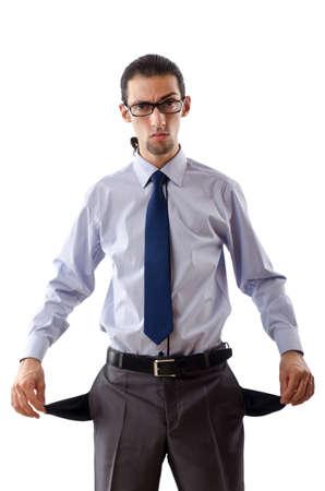 Businessman with empty pockets photo