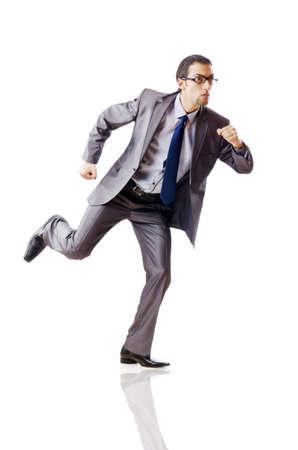 businessman running: Businessman running for success