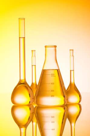 retort: Chemical glass tubing in lab