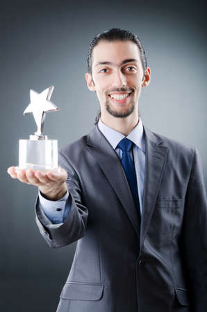 awarded: Businessman awarded with star award