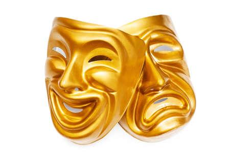 Máscaras con el concepto de teatro Foto de archivo