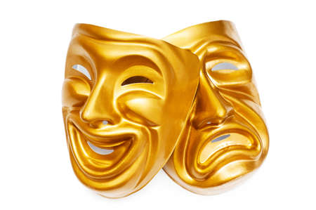 comedy mask: Masks with the theatre concept