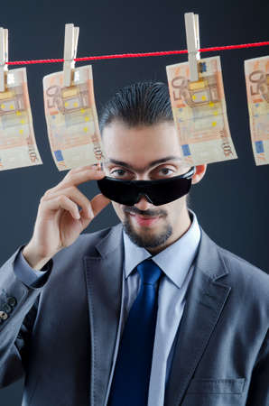 corporate greed: Criminal laundering dirty money