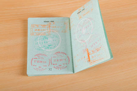 Passport with airport stamps Stock Photo - 11405078