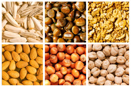 Selection of various food backgrounds Stock Photo - 11404037