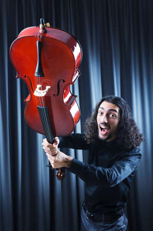 Man playing the cello Stock Photo