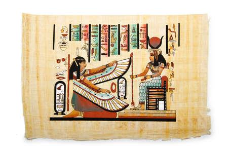 scribes: Papiro egiziano come sfondo Editoriali