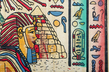 Egyptian history concept with papyrus Stock Photo - 11400760