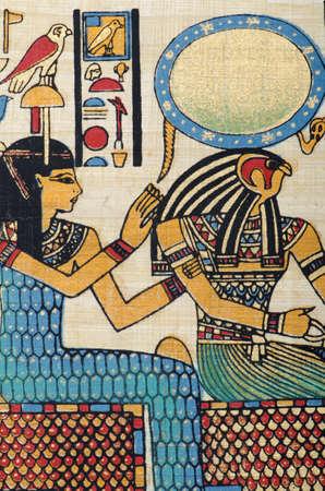 scribes: Storia concetto egiziano con papiro Editoriali