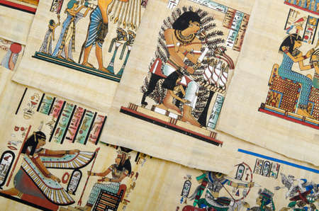 Egyptian history concept with papyrus Stock Photo - 11400761