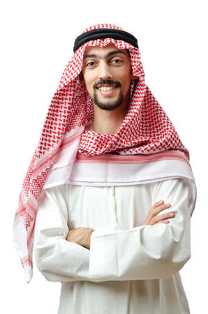 Diversity concept with young arab photo