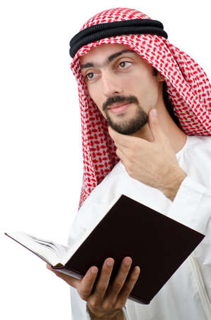 Education concept with young arab Stock Photo - 11419514