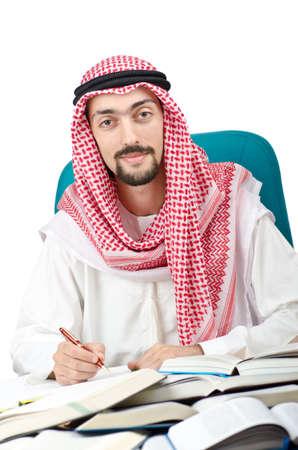 hombre arabe: Educaci�n concepto con el joven �rabe