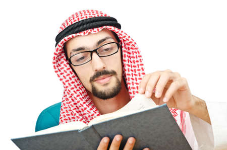 Education concept with young arab Stock Photo - 11419510