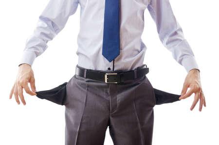 Businessman with empty pockets Stock Photo - 11404550