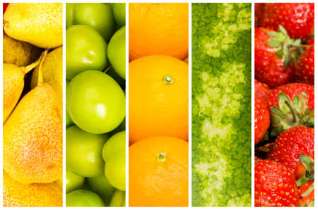 Set of various fruit and vegetables Stock Photo - 11404491