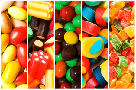 jellybean: Collage of various sweets