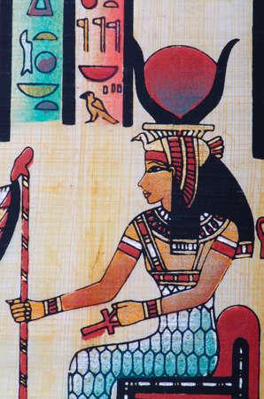 Fragment of egyptian papyrus Stock Photo - 11580679
