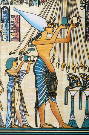 Egyptian history concept with papyrus Stock Photo - 11580676