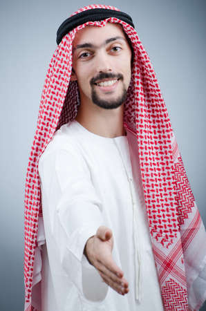 Portrait of young arab photo