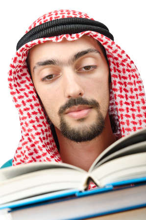 Education concept with young arab Stock Photo - 11622127