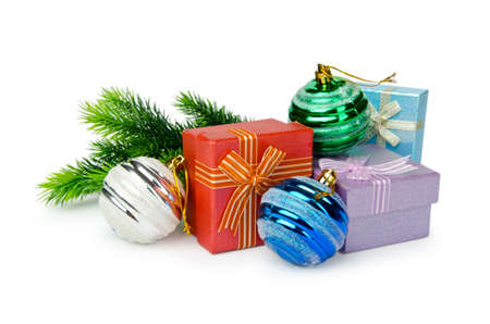 Christmas decoration on white background Stock Photo - 11572212