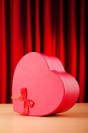 Heart shaped gift box against background Stock Photo - 11572464