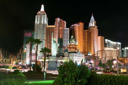 Escenas de la noche de Las Vegas Editorial
