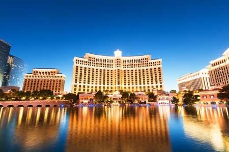 Las Vegas - 11 Sep 2010 - Bellagio Hotel Casino during sunset