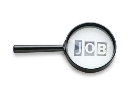 El desempleo concepto con lupa