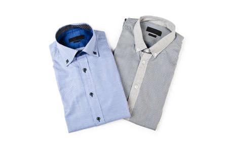 striped shirt: Shirt isolated on the white background Stock Photo