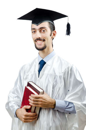 Young male student graduate  photo